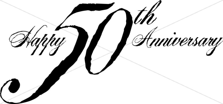 Black 50th Anniversary Wordart