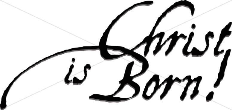Elegant Christ is Born Design