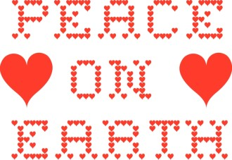 Red Hearts Peace on Earth