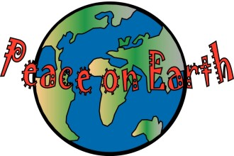 Fun Peace on Earth with Globe