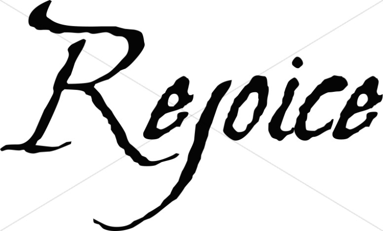 Rejoice Christian Word Art