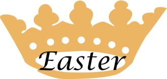 Simple Easter with Gold Crown
