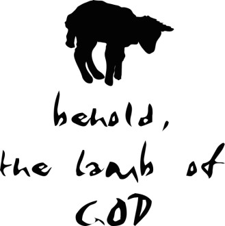 Behold the Lamb of God with Lamb Silhouette