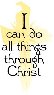 I Can Do All Things Through Christ with Gold Cross