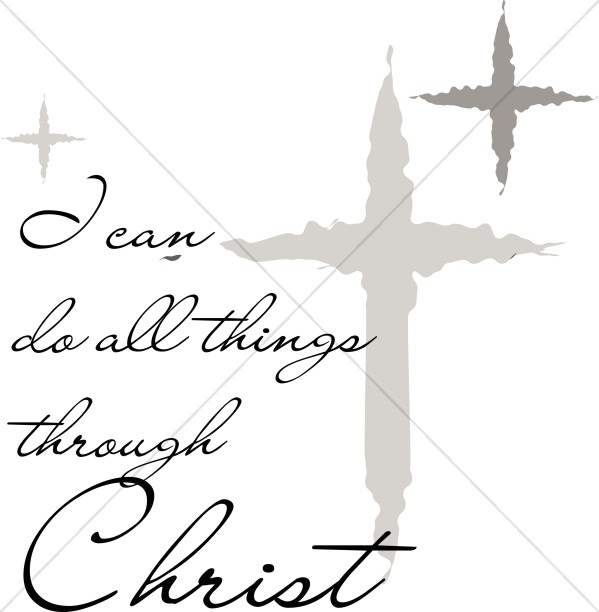 I Can Do All Things Through Christ with Silver Stars