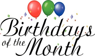 Birthdays of the Month Clipart