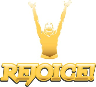 Gold Rejoice Figure with Uplifted Arms