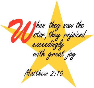 Matthew 2:10 with Five Pointed Star