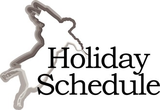 Holiday Schedule with Angel Silhouette