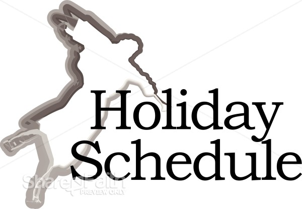 Holiday Schedule With Angel Silhouette Christian