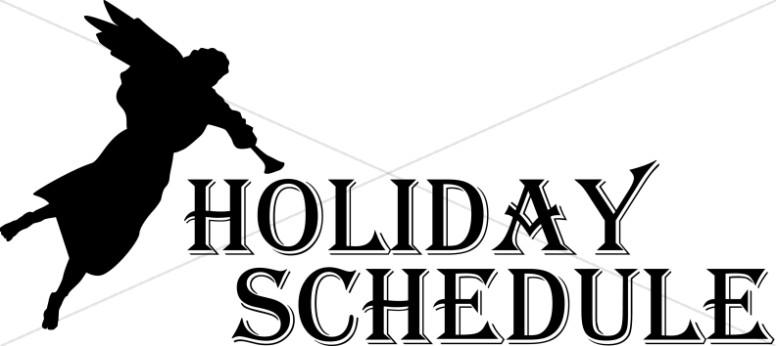 Stark Angel Silhouette Holiday Schedule