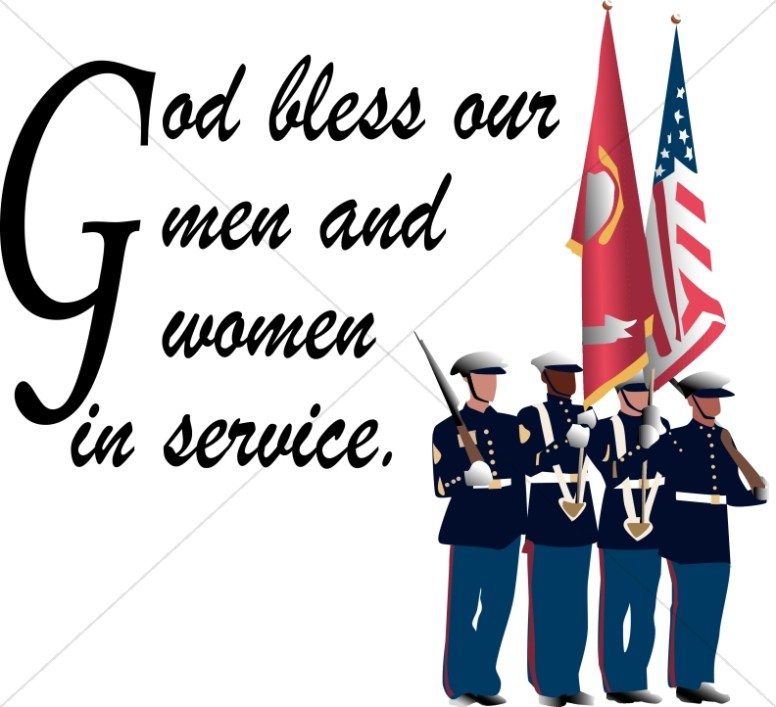 Soldiers with God Bless our Servicemen