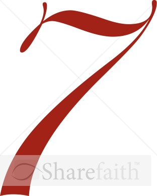 Red Number 7 | Number Clipart