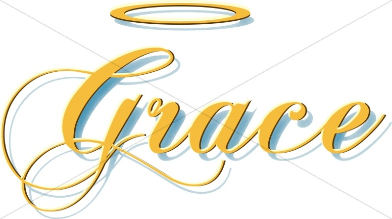 Gold Grace Script with Halo