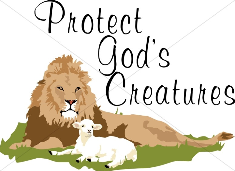 Protect God's Creatures Lion and Lamb