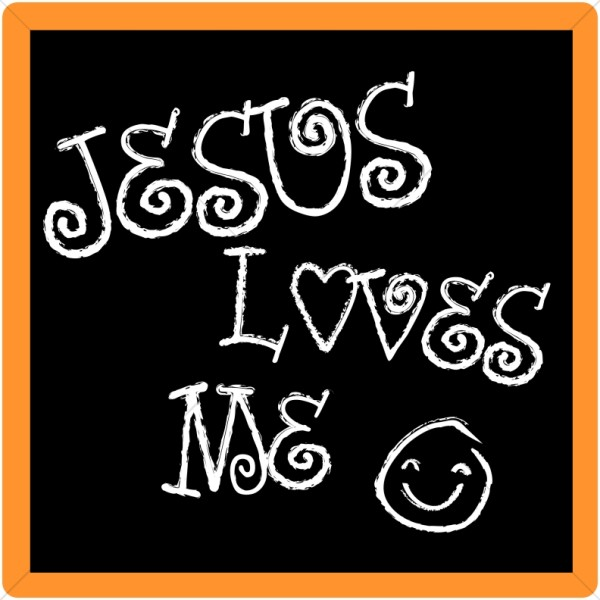 Jesus Loves Me Chalkboard