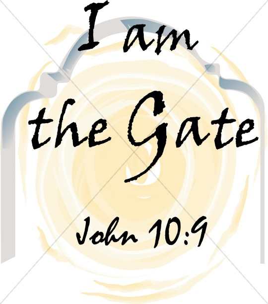 I am the Gate Typography   John 10:9