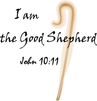 I Am the Good Shepherd with Glowing Shepherd's Crook