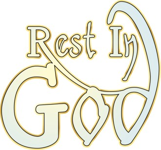 Rest in God Gold and Blue