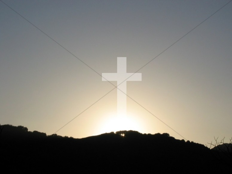 Cross with Rising Sun