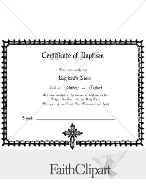 Formal baptism certificate for Baptism certificate template pdf