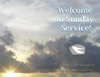 Sunday Service Program Sunrise Welcome