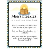 Mens Pancake Breakfast Flyer