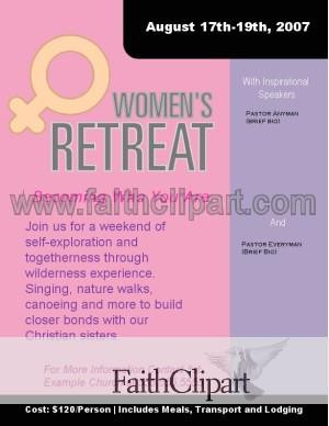 women s retreat flyer dc hidden