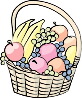 Basket of Fruit Cartoon