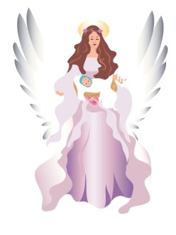 Angel and Baby Clipart