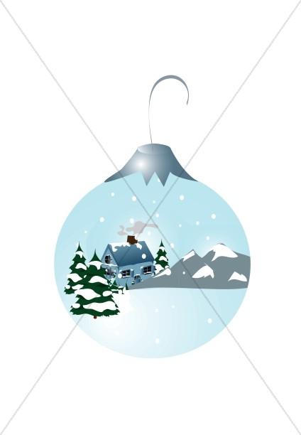 Wintery Christmas Ornament