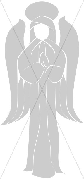 Church Clipart Angel Praying