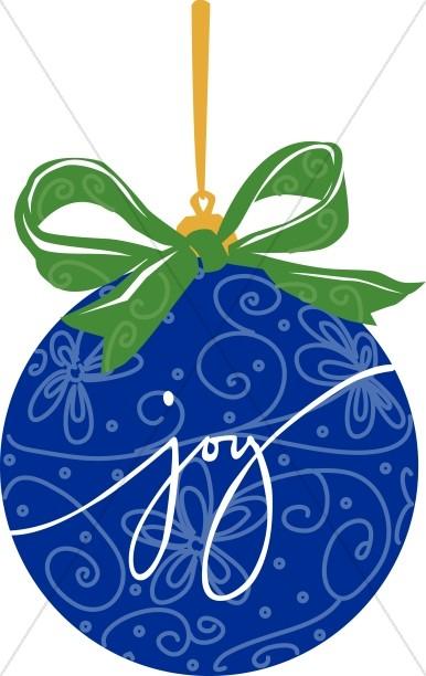 Blue JOY Ornament