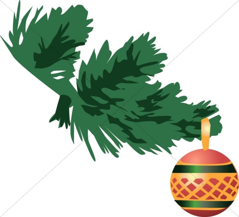Round Ornament on Branch