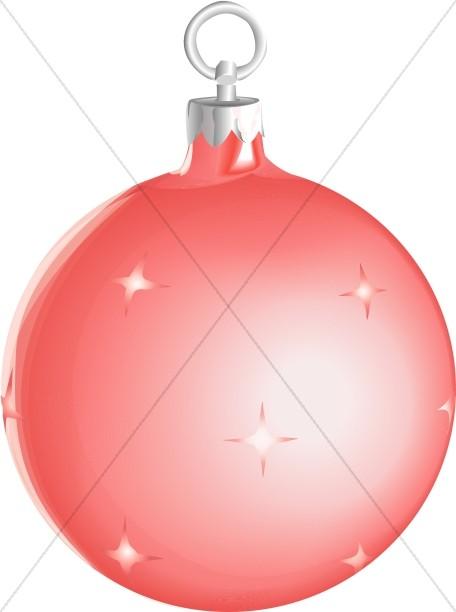 Red Shiny Christmas Ornament