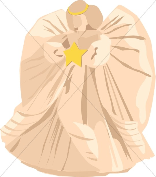 Angel with Gold Star Christian Clipart