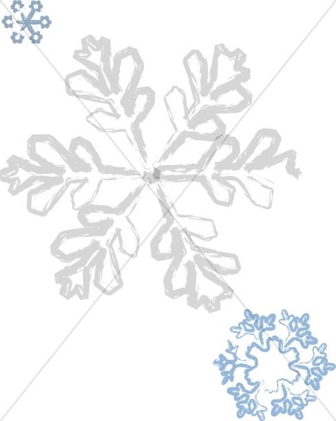 Brushstroke Snowflake Details