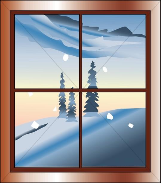 Winter Scene From Window