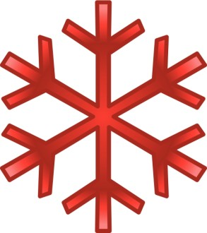 Red December Snowflake