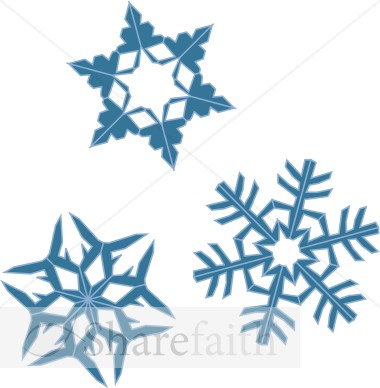 Blue Snowflake Assortment