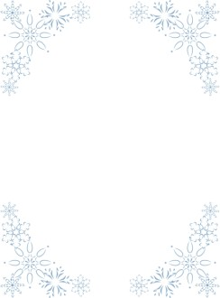 Elegant Snowflake Corners Frame