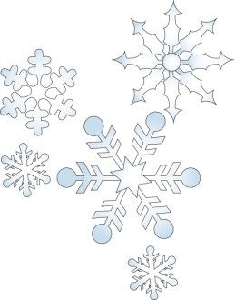 Geometric Falling Snowflakes