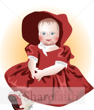 Doll Dressed in Red