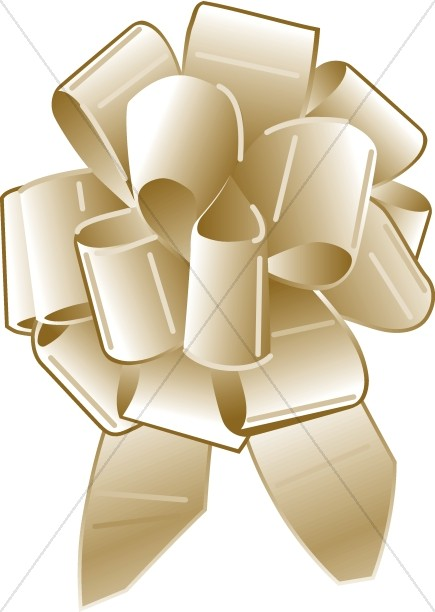 Gold Ribbon Bow