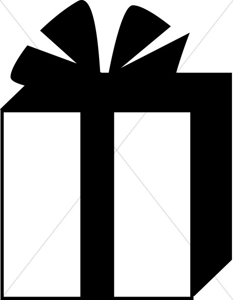 Simple Black and White Gift Box