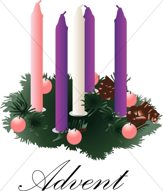 Advent Wreath with unlit Candles