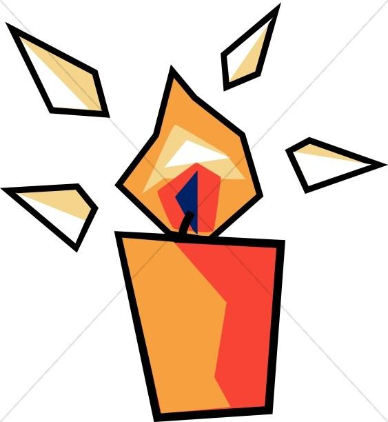 Stylized Orange Candle