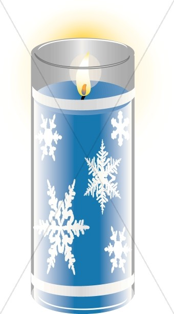 Wintertime Snowflake Candle