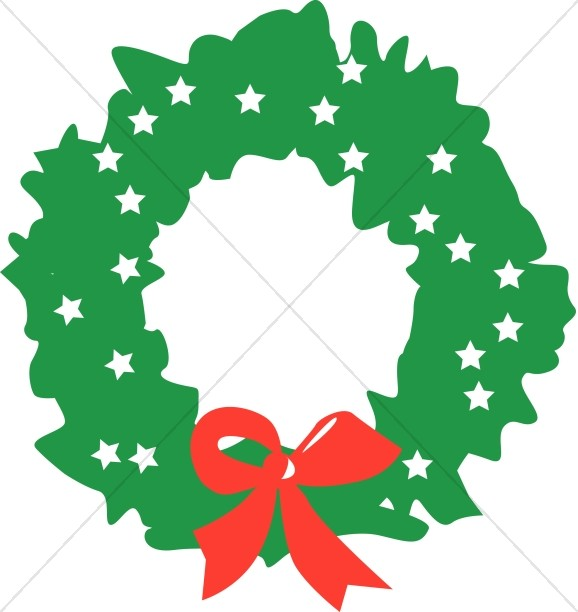 Abstract Christmas Wreath