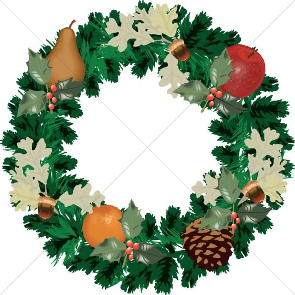 Christmas Wreath with Fall Fruit